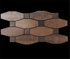Metal Copper Lappato Mosaic
