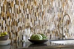 Multi-Colored Linear Glass Tile