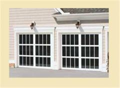 Custom French View Garage Door