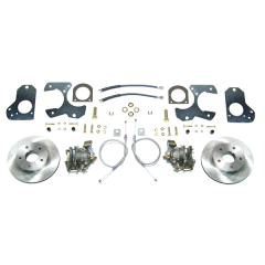 Rear disc brake conversion kit with standard