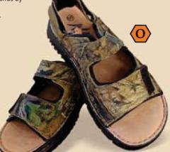 Adult Camo Leather Sandals