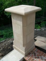 Limestone Piers & Caps