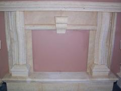 Texas Coral Limestone Fireplace