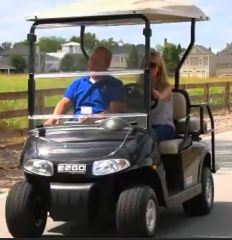 E-Z-GO RXV with Exceed Hybrid Technology Golf Car