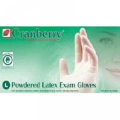 Cranberry Brand LATEX Powdered Gloves