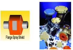 Flange Spray Shield