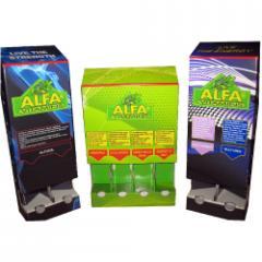 Alfa Vitamins Corrugated Cardboard Gravity-feed Display