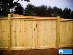 Standard Wood Driveway Gates