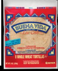 Buena Vida® Whole Wheat Low Carb Tortillas