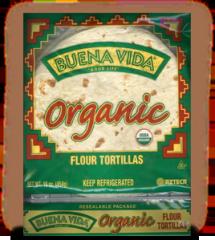 Beuna Vida® Organic Flour Tortillas