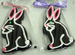 Large Hand Decorated Ganache Rabbit Chocolate