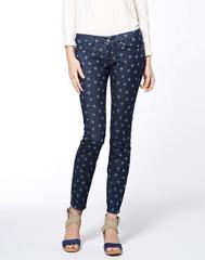 Charlie Skinny Polka Dot Ikat Jeans