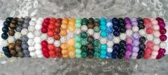 Light gold and various color stretch Bracelet