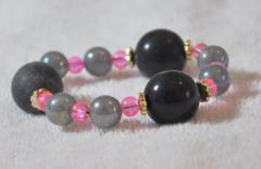 Black and rosy color Bracelet