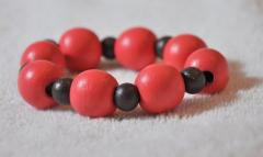 Bracelet of light red color