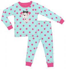 Petit Lem Polka Dot Pajamas 2T