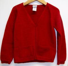Florence Eiseman Red Cardigan Sweater