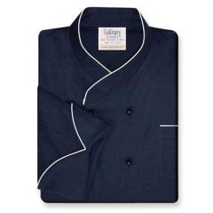 Imperial Chef Coat Navy with White Accents