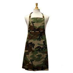 Premium Bib Apron in Camouflage Rip Stop