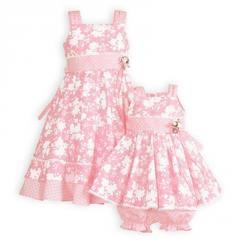 Pink Posy Sister Sundresses