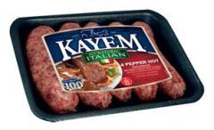 Natural 4 Pepper Hot Italian Sausage
