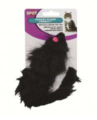 Shaggy plush ferrett cat toy