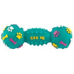 Grreat Choice™ Squeaky Vinyl Barbell Dog Toy