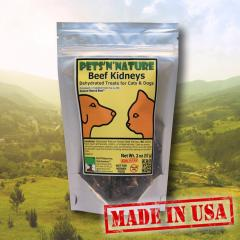 Beef Kidneys Dehydrated treats for Cats and Dogs
