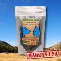 Goat Liver Dehydrated treats for Cats and Dogs (5