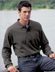 Long Sleeve Polo shirt w/ Pocket (MP-42)