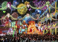Mardi Gras Parade Backdrop