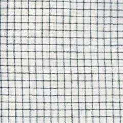 100% Irish Linen - Windowpane Check - Black