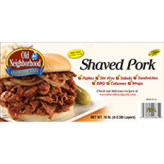 Shaved Pork - 10 lb. unit - Frozen
