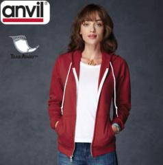 ANVIL LADIES RINGSPUN FULL ZIP