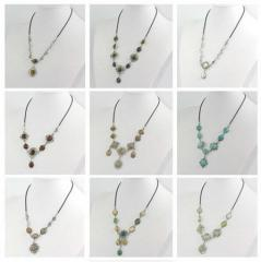 20 Pcs Natural Gemstone Necklaces - 20 Pieces Case Pack 20