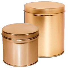 Gold Color Coated Tins