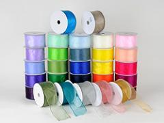 Organza Ribbon Thick Wire Edge 25 Yards