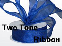 Organza Ribbon Two Tone Wire Edge