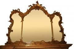 Large Gilt French Mirror