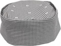 Checkered Pillbox Chef Hat