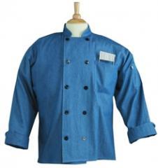 UT-0405c Aspen Chef Coat Chambray Md