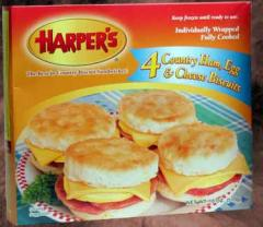 Country Ham, Egg & Cheese Biscuits (8