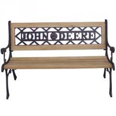 John Deere Cast Iron and Wood Garden Bench