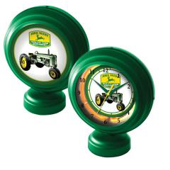 John Deere Neon Tabletop Clock