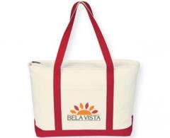 Eco Canvas Zipper Tote Bag