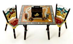 Wild West Table and 2 Chairs Set