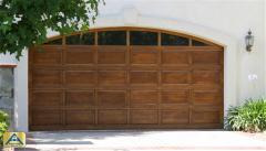 Traditions Wood Stain Garage Door
