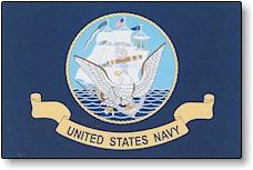 12x18 In Nyl-Glo US Navy Flag