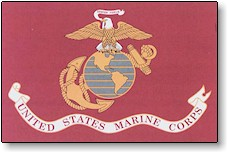 2x3 Ft Nyl-Glo US Marine Corps Flag