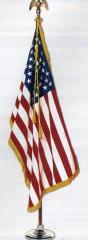 3 X 5 Ft Colonial Nylon US Flag Mounted Set